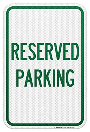 Cartel de estacionamiento Reservado - Ingeniero de 12