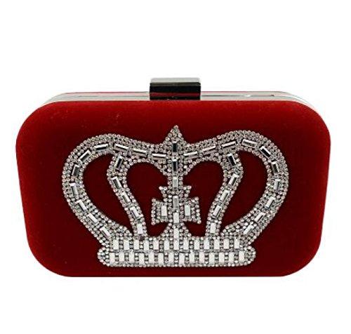 Paquete De La Cena De La Perla Del Diamante Del Bolso De Tarde De Las Señoras Paquete Lleno Del Banquete Del Bolso Del Diamante De Gama Alta Red