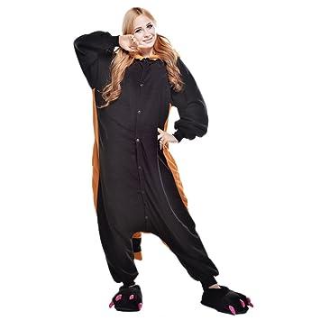 JINZFJG Pijamas Siameses de Franela Dibujo Animado Hombre/Mujer Pijama Disfraz Cosplay, Mapache,