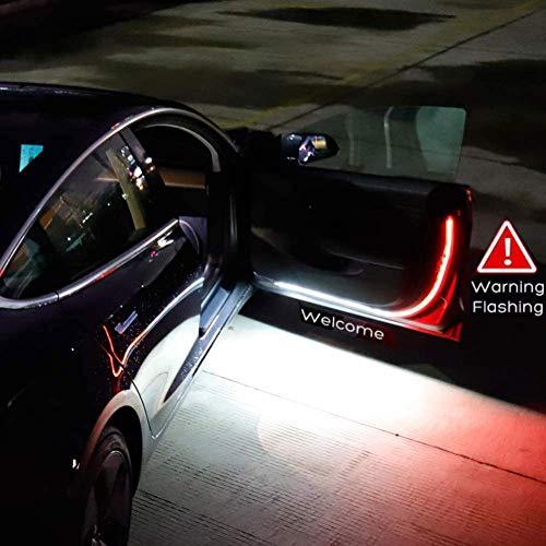 WISREMT Luces de Advertencia LED para Puerta de automóvil, 2 Piezas 1.2 Metros 144 Lámpara LED para Puerta Interior de automóvil para iluminación, decoración, anticolisión Trasera, 47 Pulgadas