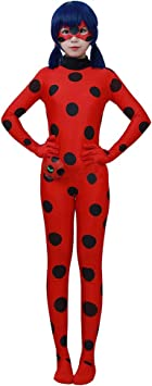 LSERVER-Disfraz de Lady Bug Traje de Cosplay de Superheroína ...