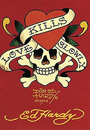 Close Up Ed Hardy Postkarte Love Kills Slowly 0cm X 0cm Amazonde
