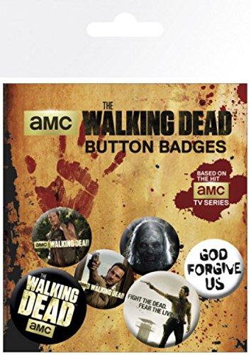 1x mm mm 4 cm The Walking 1art1 insignias 2 Paquete 15x10 25 adhesivo de Dead x de sorpresa de 32 y Juego 6CqxHH