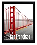 Frametory, 11X14 Pre-Assembled Black Poster Frame - Golden Gate Bridge Gallery Edition