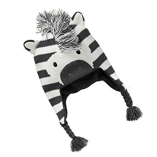 Singring Baby Kids Girls Boys Winter Warm Zebra Caps Hats (M)