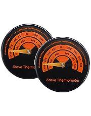 Nrpfell 2-delige magneetfornuis thermometer hout brander top kachel temperatuur meter fornuis aftrek thermometer