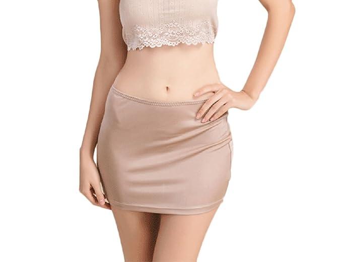 43c387998ea2 Faldas Mujer Enaguas Cortas Lencería Plain Cintura Antideslizante ...
