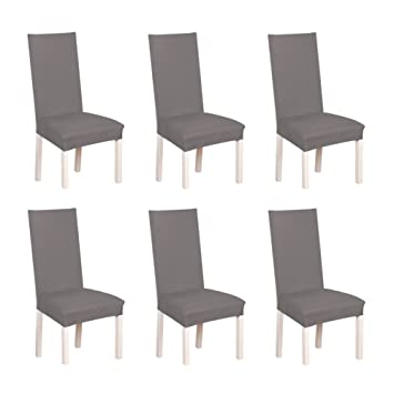 S.D. Maket Belle Vie* 6 pcs Universelle Housse de Chaise élastique on