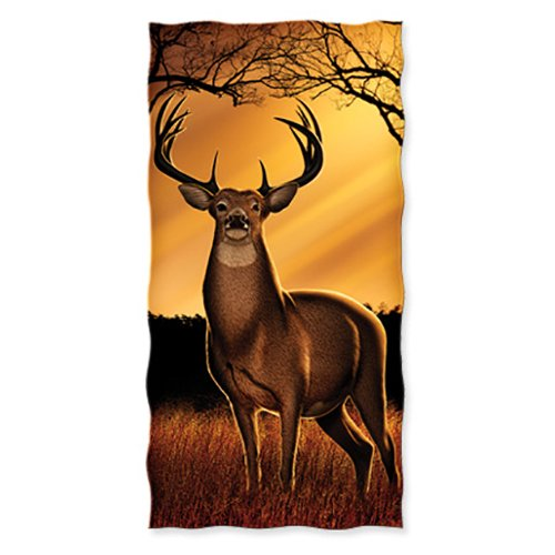 Whitetail Deer Cotton Beach Towel (Deer Bath)
