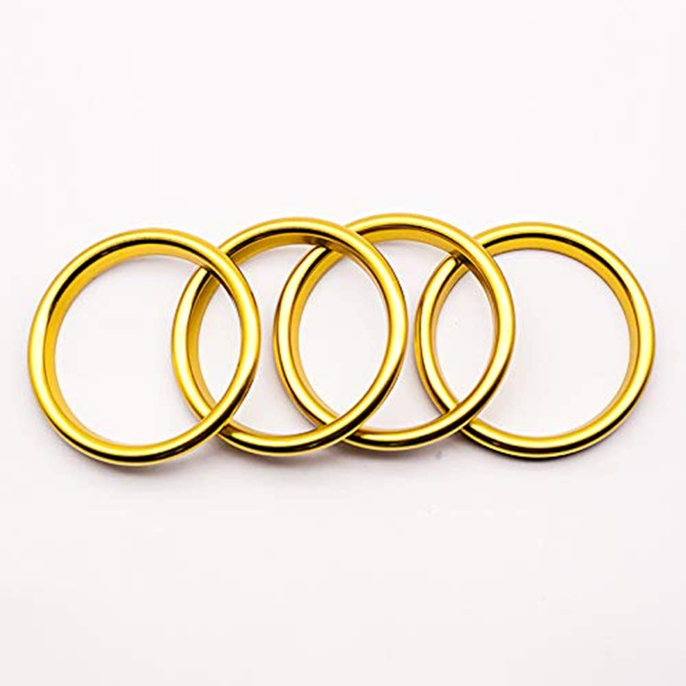 Freenavi Air Conditioning Ring Cover Air Exit Cover Decoration Sticker for Audi A3 S3 2013-2016 / Q2 2017 Accessories, Car-Styling 4pcs (Gold)