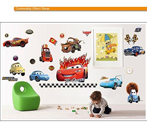 Tumtung Cartoon Disney Pixar Cars Vinyl Removable Mural PVC Wall Art Decal Sticker for Kids Baby Bedroom - (45*65cm)