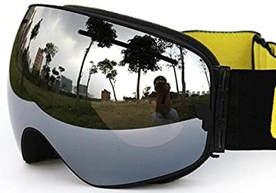 COPOZZ GOG-201 Ski Snowboard Anti-fog Goggles - Wide Vision Anti-scratch Anti UV 400 OTG Comfortable Snowboarding Goggles with Detachable Dual Layer Lens