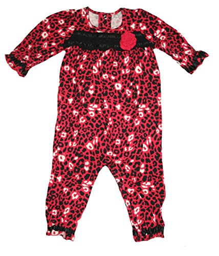 Okie Dokie Baby Girls' 1 Piece Animal Print Romper (12 Months, Pink)
