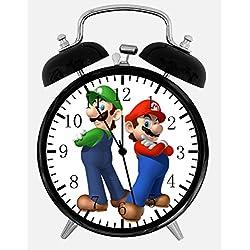 Super Mario Luigi Alarm Desk Clock 3.75 Home or Office Decor X35 Nice For Gift