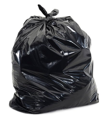 60 Gallon Extra Large Contractor Trash Bags 3 Mil, Durable Heavy Duty, Made in USA, Tough Garbage Bags for Cleanups Drum Liner 3mil (25)-41x55 by Ox Plastics