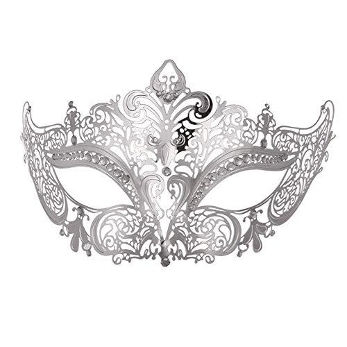 バランスのとれた推定完全に乾くダンスマスク 高級金メッキ銀マスク仮装小道具ロールプレイングナイトクラブパーティーマスク ホリデーパーティー用品 (色 : 銀, サイズ : Universal)