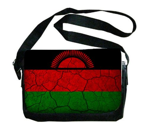 Malawi Flag Crackledデザインメッセンジャーバッグ B00FMFM12S