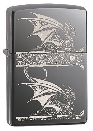 UPC 041689289614, Zippo Anne Stokes Gothic Dragon Pocket Lighter, Black Ice
