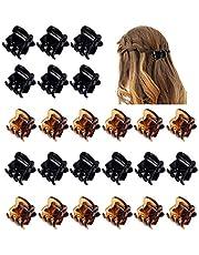 Uooker - Pack de 24 pinzas para el pelo con diseño de pulpo, color negro y marrón