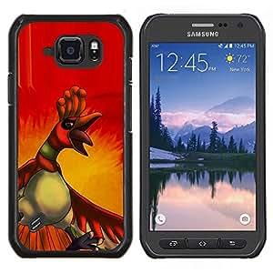 EJOOY---Cubierta de la caja de protección para la piel dura ** Samsung Galaxy S6Active Active G890A ** --Angry Duck