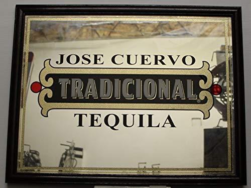 Jose Cuervo Tradicional Tequila Logo Mirror Wood Frame