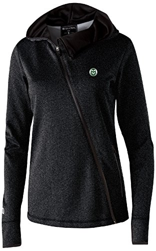 (Ouray Sportswear NCAA Colorado State Rams Women's Artillery Angled Jacket, Large, Black Heather)