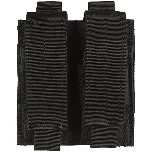 VooDoo Tactical 20-7975001000 Pistol Mag Pouch, Black, Double