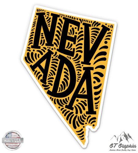 Nevada Shape Cute Letters Native Local - 5