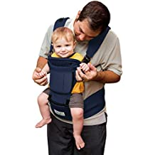 BabySteps 6-IN-1 Ergonomic Baby Hip Seat Carrier, Soft Carrier for All Shapes and Seasons, Perfect for Alone Nursing from Infant to Toddlers, Navy Blue