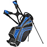 Best Choice Products Golf Bag Stand 6 Way Divider Organizer Carry Straps- Blue/Black