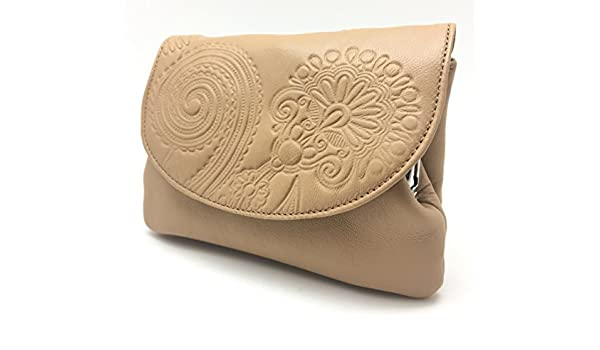 Cartera Portamonedas Monedero para Mujer Marca: Lugupell - Color: Cuero (12,5 x 9 cm): Amazon.es: Equipaje