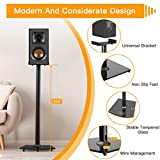 Universal Speaker Stands with Cable Management