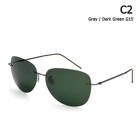 ZHOUYF Gafas de Sol Hombres Ultraligero Titanio Polarizado ...