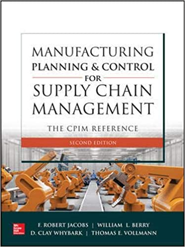 Manufacturing Planning and Control for Supply Chain Management: The CPIM Reference, Second Edition - Original PDF