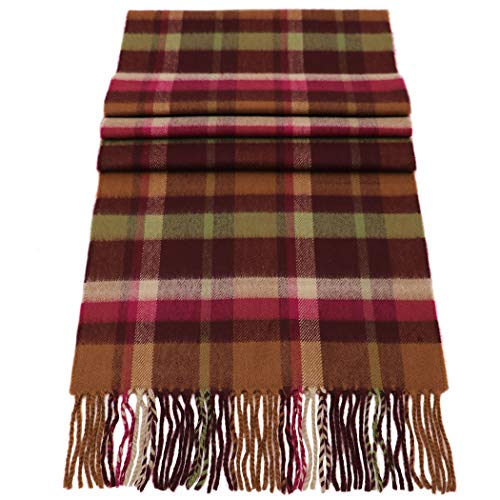 Rosemarie Collections 100% Cashmere Winter Scarf Made In Scotland (Hunters Plaid)