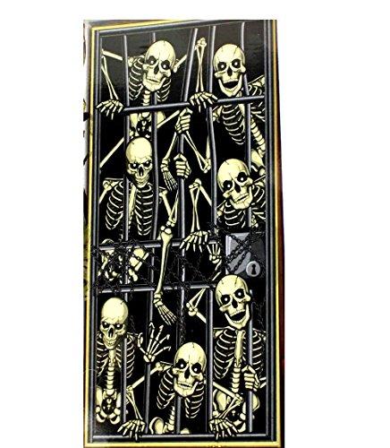 Gothic-SKELETON PRISONERS DOOR COVER MURAL-Halloween Party Decoration Prop-30x60]()