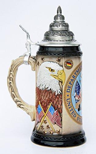 US Army Beer Stein American Eagle German Beer Stein by GermanSteins