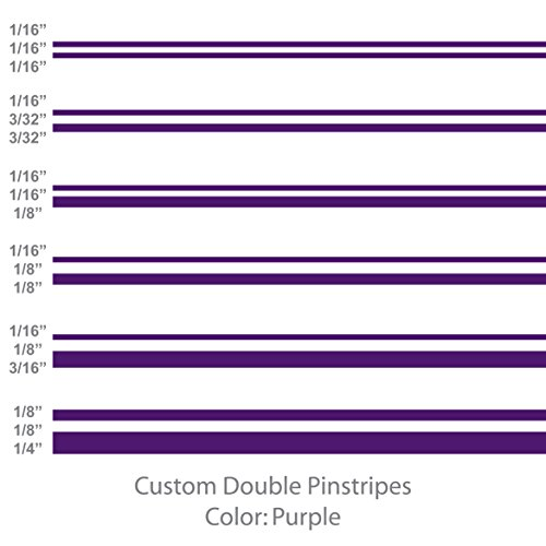 1060 Graphics Double Vinyl Pinstripes/Pinstriping (Purple) 1/16
