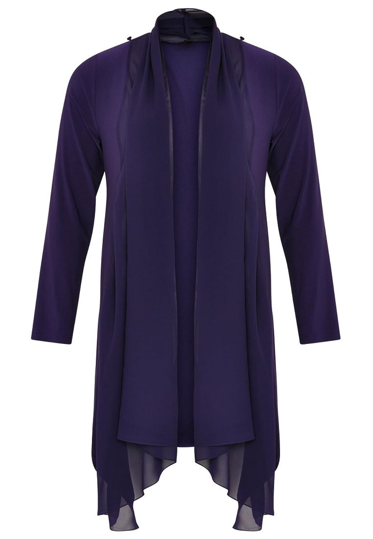 Yoek Damen Bluse Drapiert Plus Size