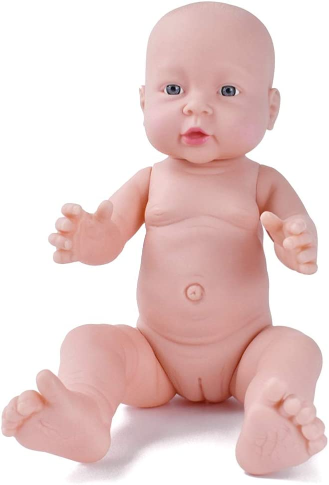 African-American Realistic Baby Boy Doll Nude Doll Model 16 inches Kids Toy