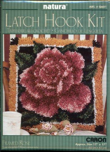 (Natura Latch Hook Kit - Framed Rose 17