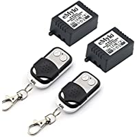 eMylo DC 12V 1 Channel Smart RF Wireless Relay Remote Control Momentary Switch Transmitter with Relay Receiver
