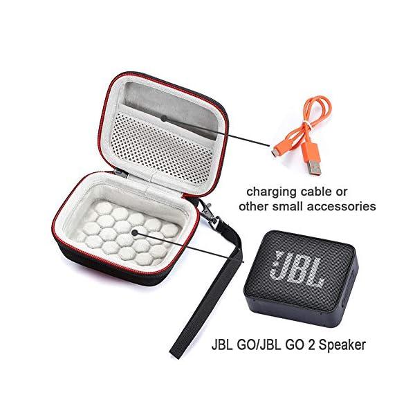 L3 Tech Etui pour JBL Go, Sacoche de Transport Rigide pour JBL GO, Haut-Parleur Bluetooth sans Fil (Boîtier Seulement, Haut-Parleur et Accessoires Non Inclus) - Rouge 2