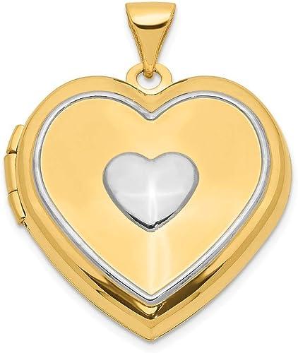14k Yellow with White Rhodium Two-tone Gold I Love You Key Pendant