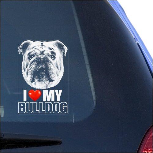 english bulldog vinyl car sticker - 7