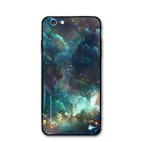 Kids Cell Firefly For Phone - Happy Index Fireflies and Girls iPhone 6 / 6S Case Soft TPU Shell Shock-Absorption Bumper Anti-Scratch Case Enhanced Grip Protective Defender Cover for Apple iPhone 6/6S