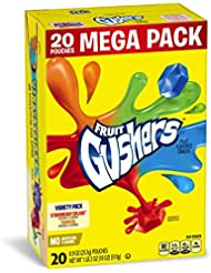 Betty Crocker Fruit Snacks, Gushers, Mega Pack, Variety Snack Pack, 20 Pouches, 0.9 oz Each