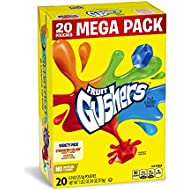 Betty Crocker Fruit Snacks, Gushers, Mega Pack, Variety Snack Pack, 20 Pouches, 0.9 oz Each