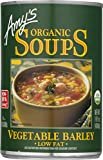 #6: Amy's Organic Soups, Low Fat Vegetable Barley, 14.1 Ounce
