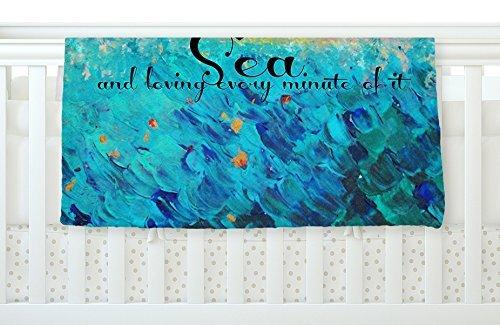 KESS InHouse Ebi Emporium Lost at Sea Yellow Blue Fleece Baby Blanket 40 x 30 [並行輸入品]   B077ZV1GB5